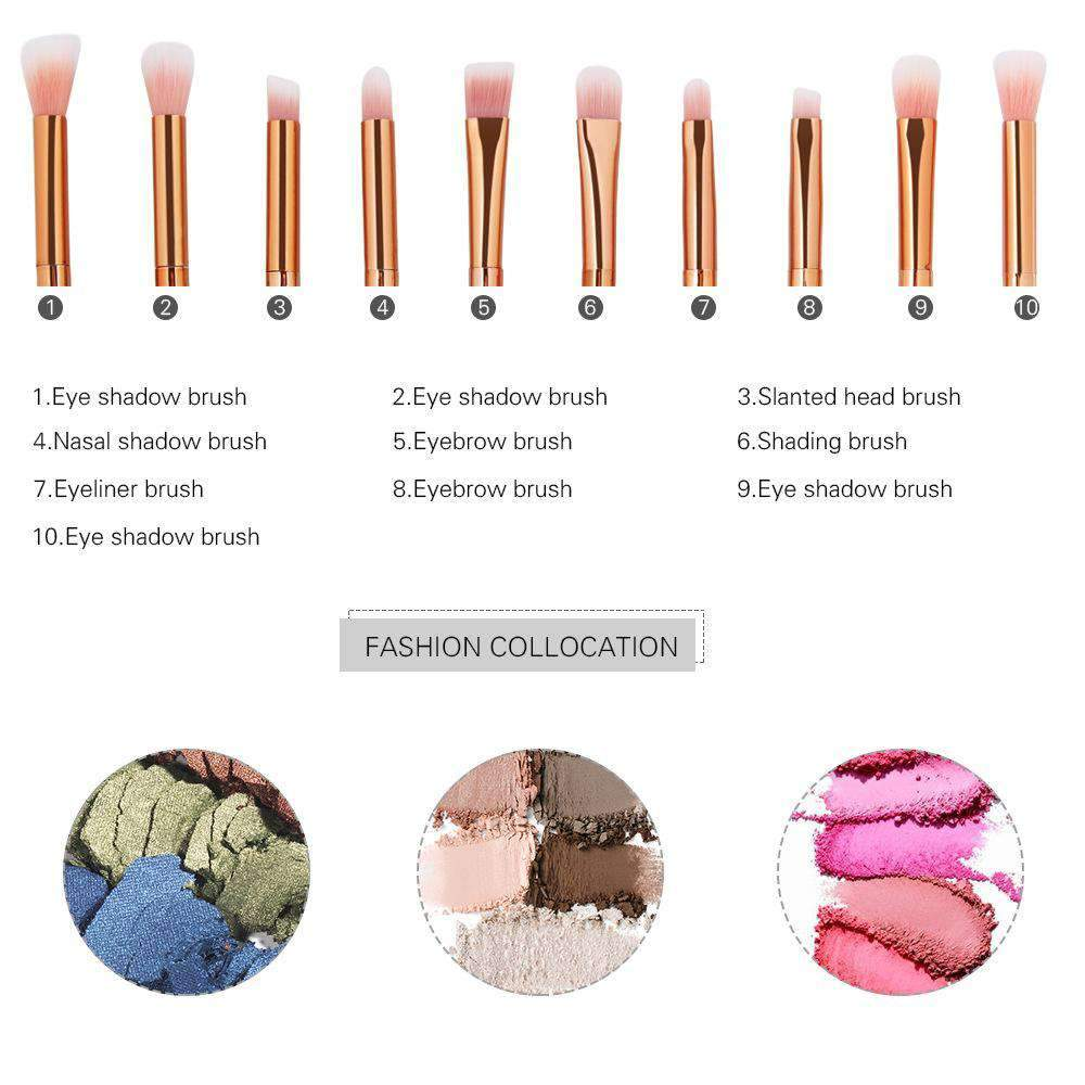 10 Pcs Color Make Up Brush
