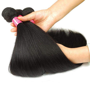 Brazilian Straight Wave Human Hair Virgin Hair 3Bundles