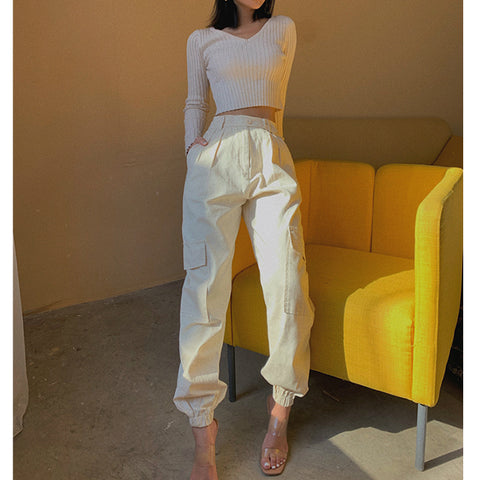 High Waist Straight Leg Cargo Trousers gallery 6