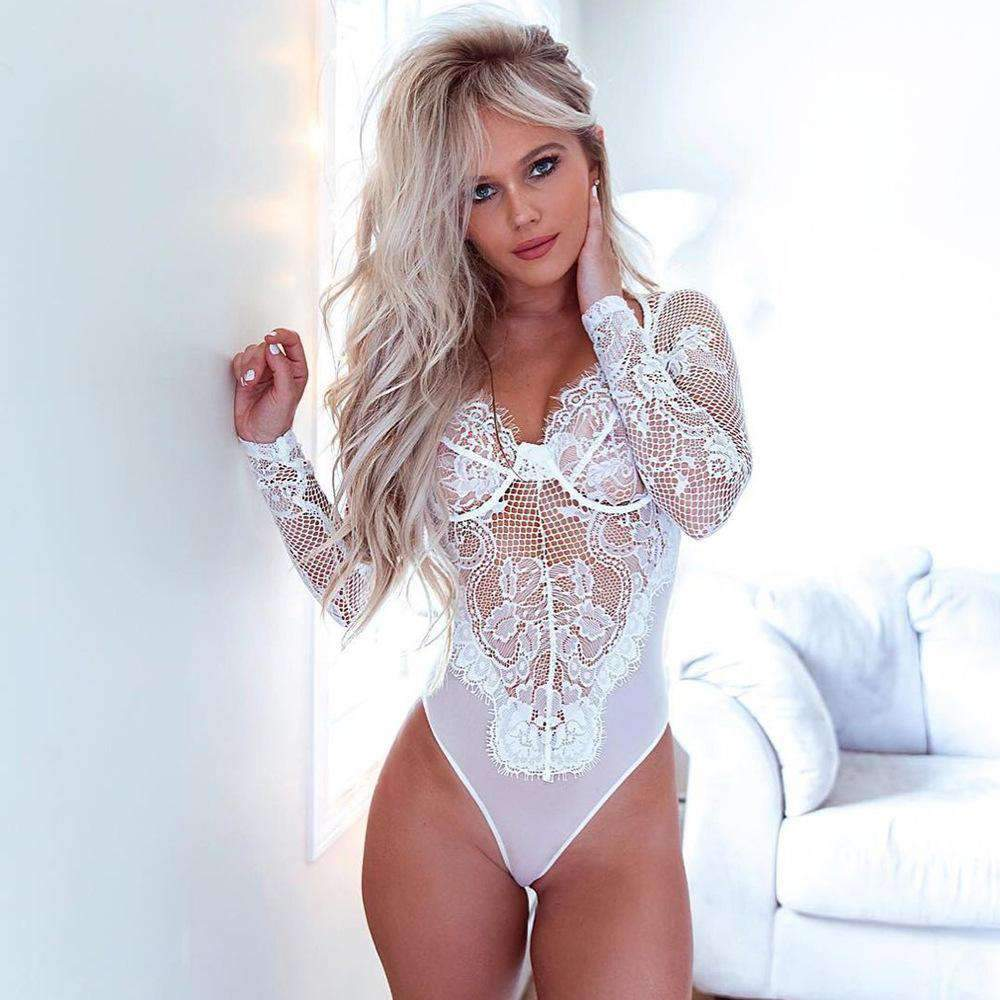 f09feee4187 New Arrivals Long Sleeve Lace Sexy Bodysuit