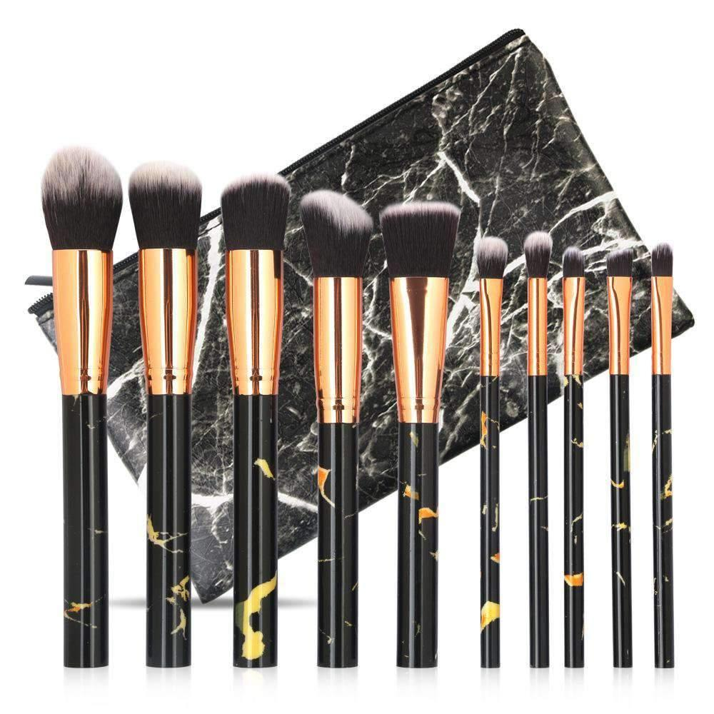 10Pcs Marble Print Make-up Brush