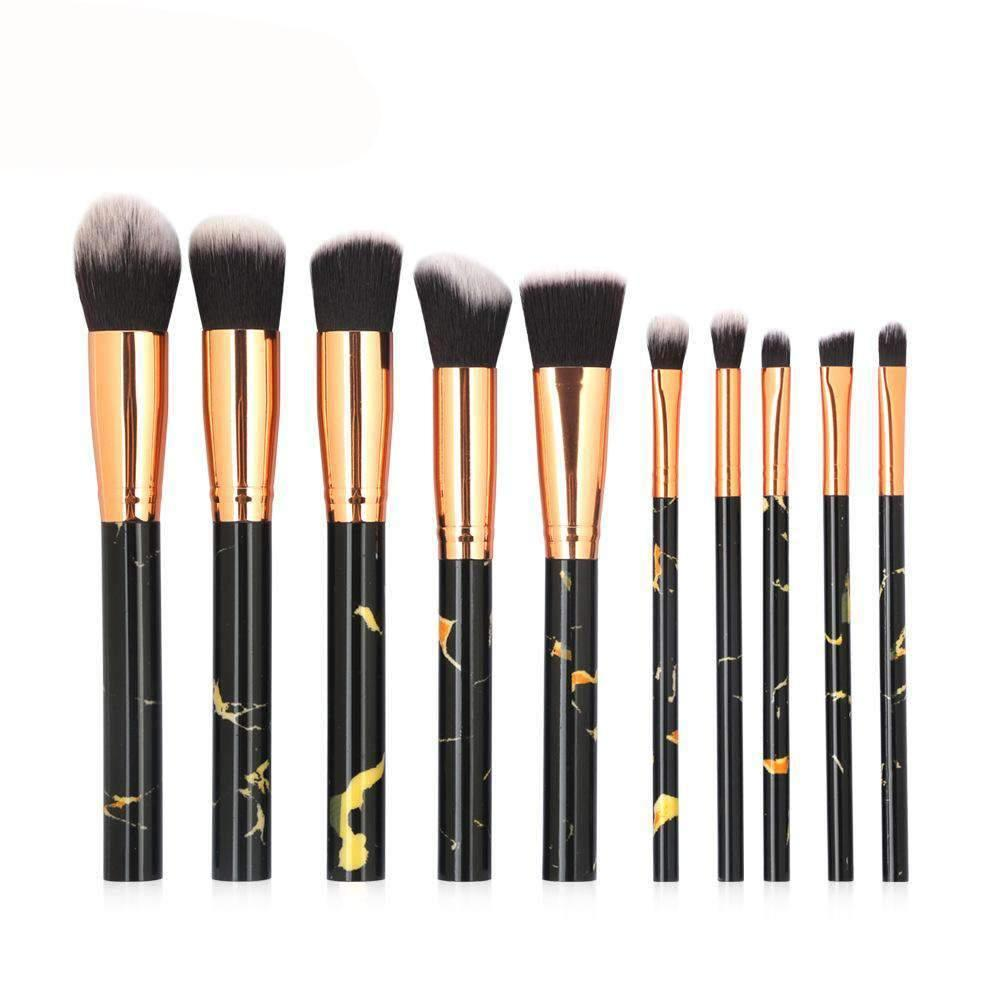 10Pcs Marble Make-up Brush