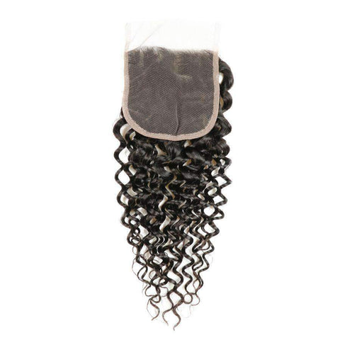 Curly Wave Human Hair with 4x4 Lace Closure gallery 3