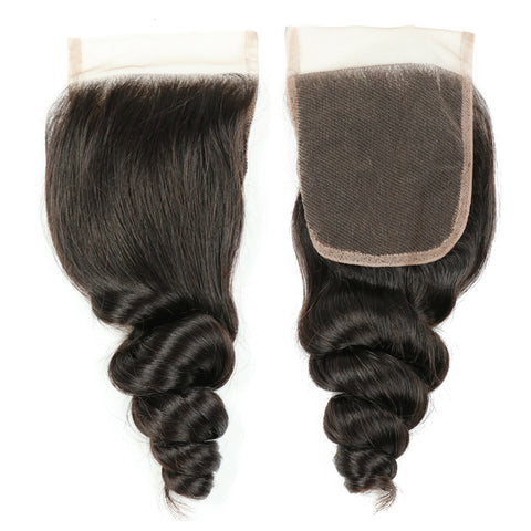 Loose Wave Human Hair with 4x4 Lace Frontal Closure gallery 1