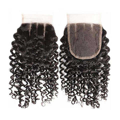 Remy Curly Human Hair with 4x4 Lace Closure gallery 2
