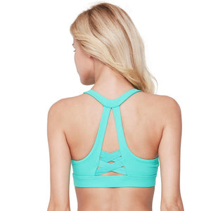 Criss Cross Racerback Wire Free Breathable Stretch Sports Bra