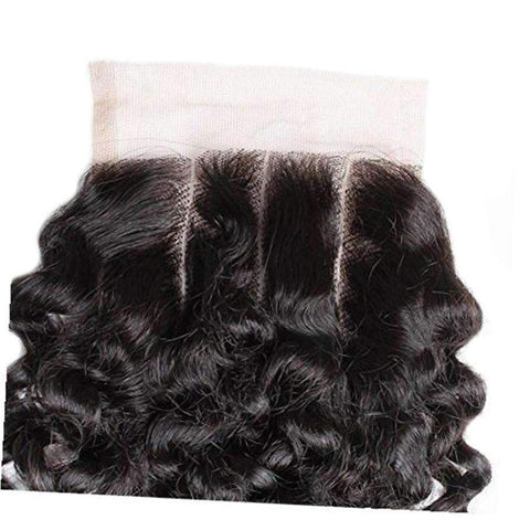 Curly Wave Human Hair with 4x4 Lace Closure gallery 5