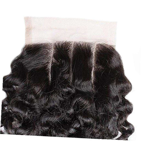 Remy Curly Human Hair with 4x4 Lace Closure gallery 4