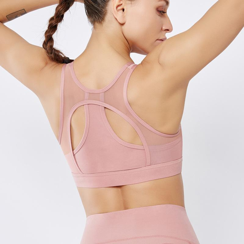 Creative Design Pure Color Quick-drying Sports Bra