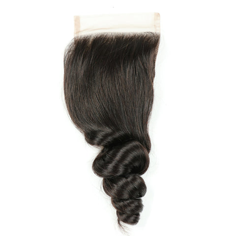 Loose Wave Human Hair with 4x4 Lace Frontal Closure gallery 5
