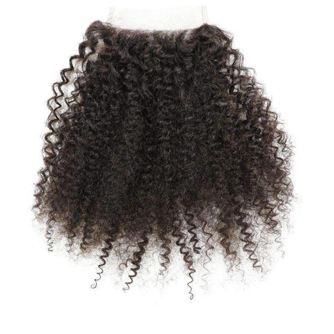 8A Human Hair 4x4 Afro Lace Closure gallery 2