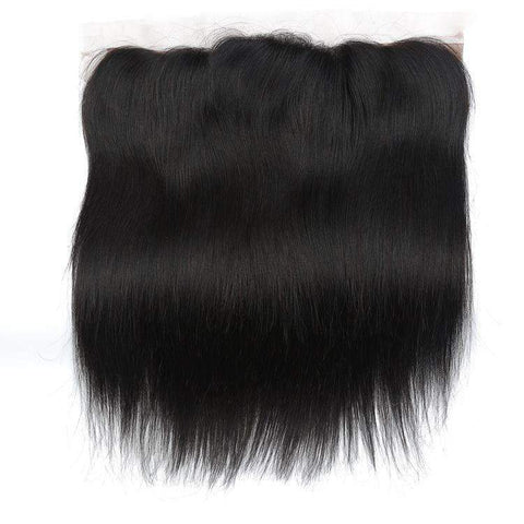 Brazilian Straight Wave With 4X13 Frontal Lace Closure gallery 5