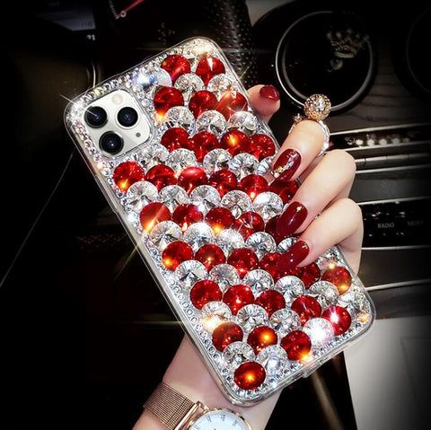 Full Rhinestone Cover Shockproof Phone Case for Samsung gallery 12