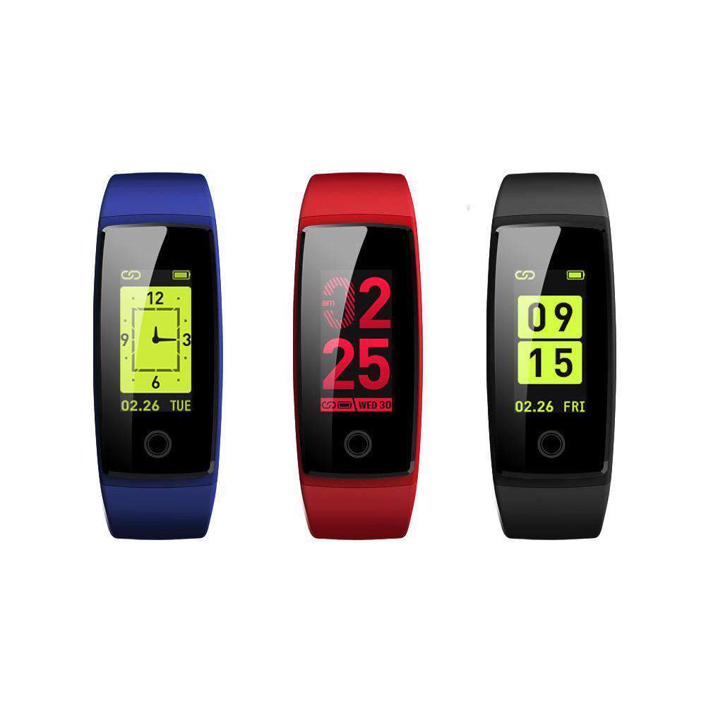 Color Screen Blood Pressure Heart Rate Health Monitoring Bluetooth Intelligent Bracelet