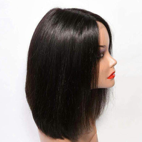 Brazilian Bob Straight Wave Human Hair Whole Head with Lace Frontal gallery 3