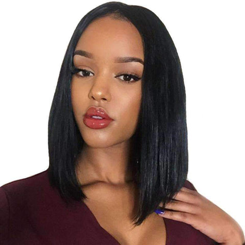 Bob Wave Slightly Human Hair with Lace Front gallery 1