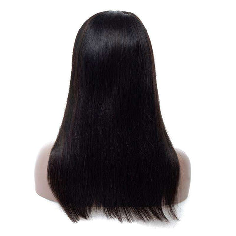 Virgin Hair Straight Wave Wigs With Lace Front gallery 4