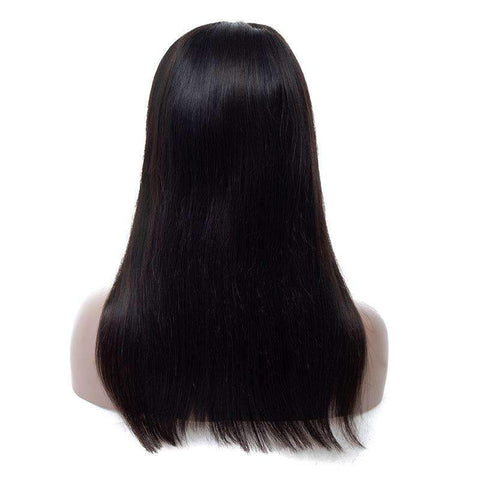 Brazilian Straight Wave Human Hair Whole Head with Lace Front gallery 5