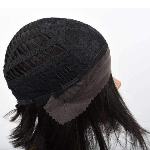 Brazilian Bob Straight Wave Human Hair Whole Head with Lace Frontal gallery 4