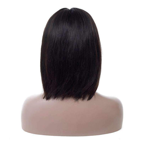 Brazilian Straight Bob Wave Human Hair Whole Head with Lace Front gallery 4
