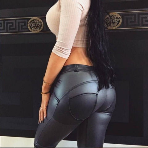 Faux Leather Butt Lifting Leggings