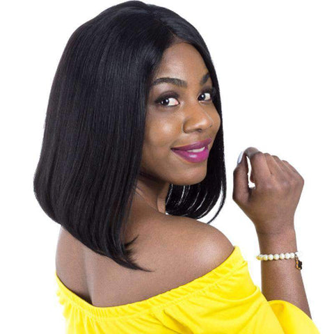 Brazilian Bob Straight Wave Human Hair Whole Head with Lace Front gallery 1