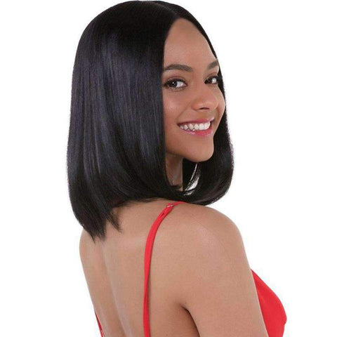 Brazilian Bob Straight Wave Human Hair Whole Head with Lace Frontal gallery 1