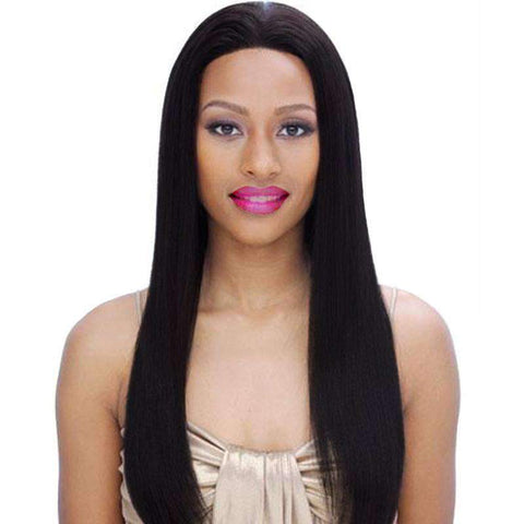 Brazilian Straight Wave Human Hair Whole Head with Lace Front gallery 1
