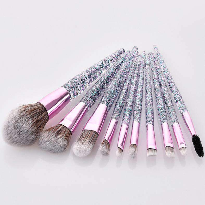 10 Pcs Crystal Sparkling Make-up Brush