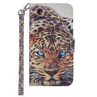 Chic Tiger Pattern Flip Phone Case for Samsung with Card Pocket