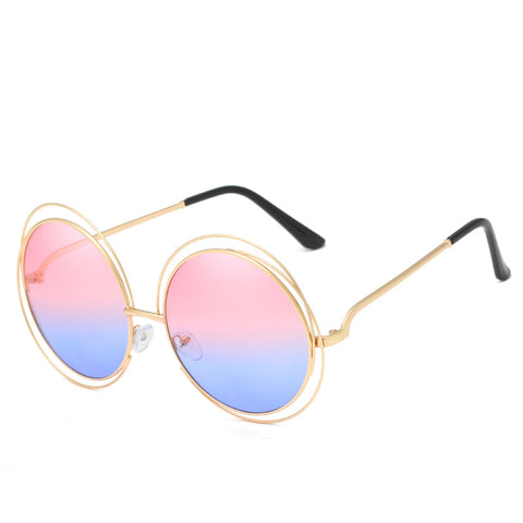 Ombre Double Frame Hollowed Sunglasses gallery 3