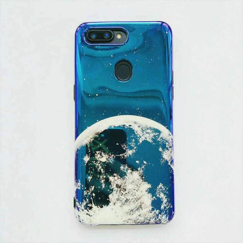 Alphabet Print Earth Pattern Phone Case for Samsung