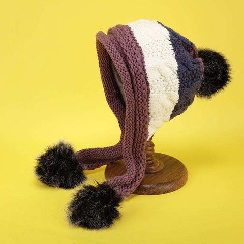Women's Winter Cute Assorted Color Warm Thick Hat gallery 10
