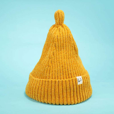 Smile Face Stitch Knit Beanie Hat gallery 2