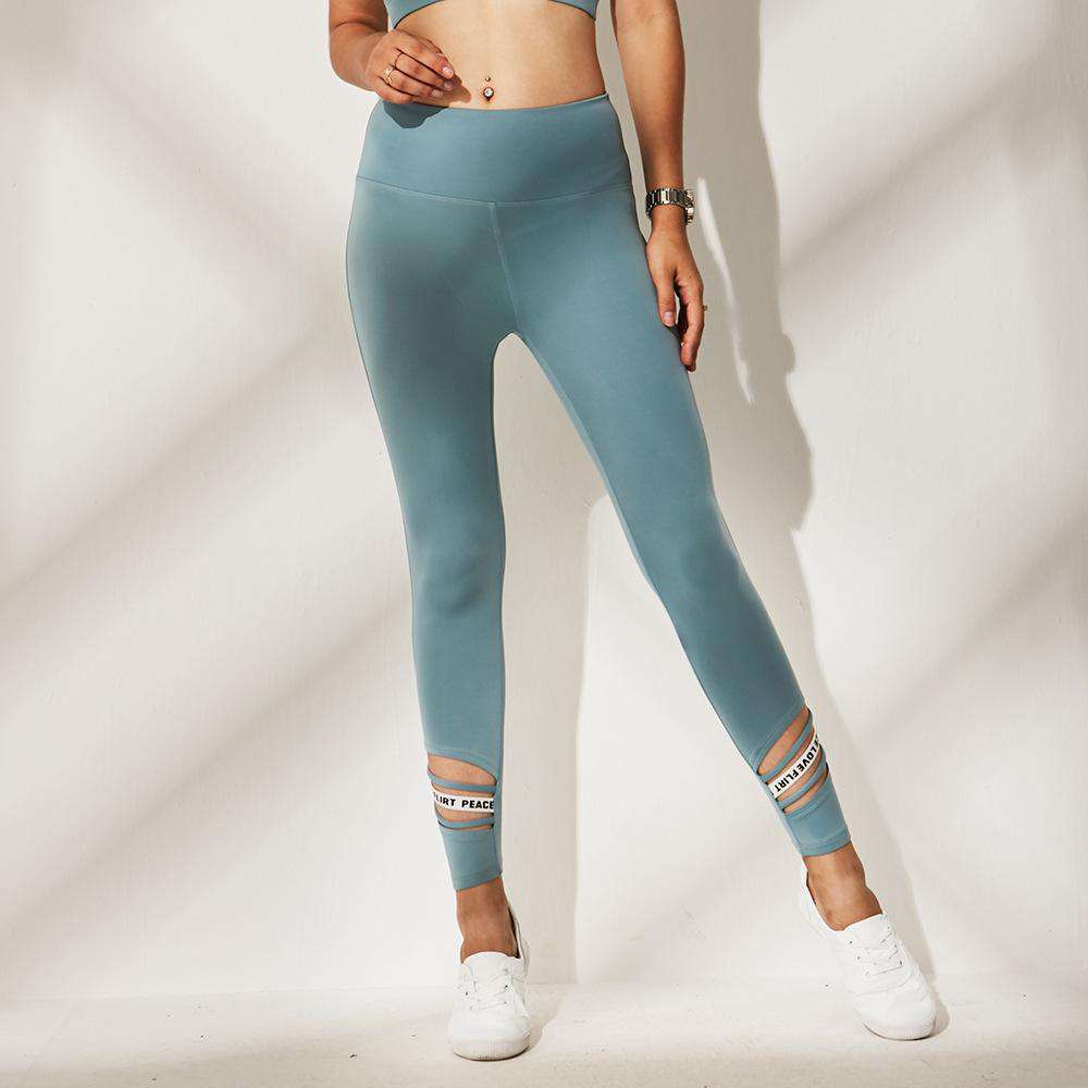 Letter Print Breathable Yoga Pant