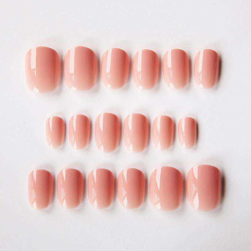 Peach Pink Magic Press On Nail Manicure