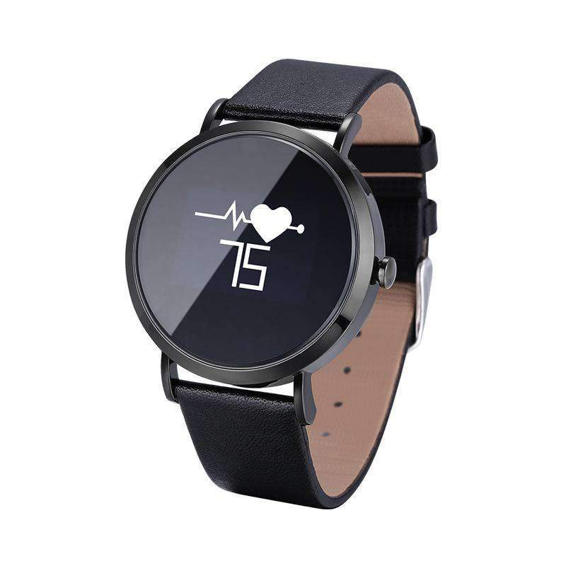 Circular Touch Screen Smart Heart Rate and Blood Pressure Health Monitoring Waterproof Watch