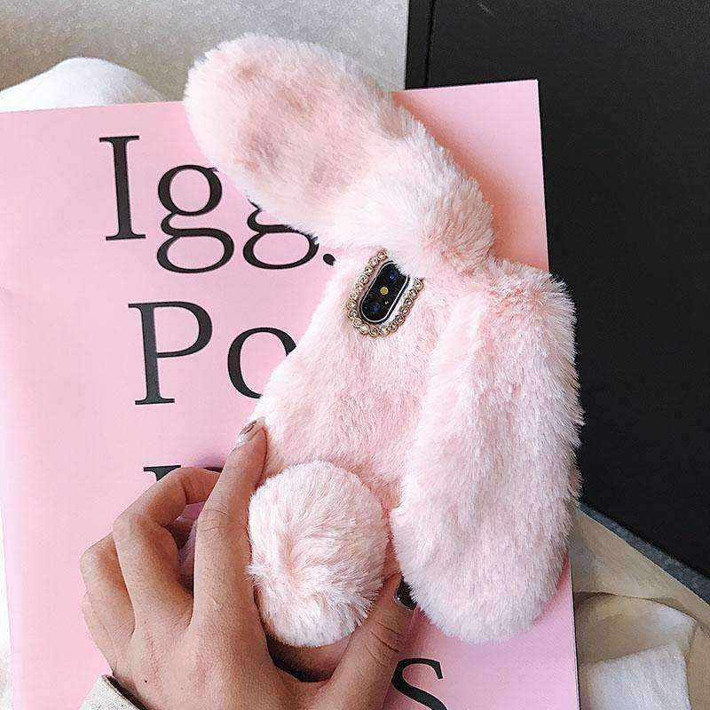 reputable site 7f7d3 88e43 Fluffy Rabbit Phone Case for Samsung