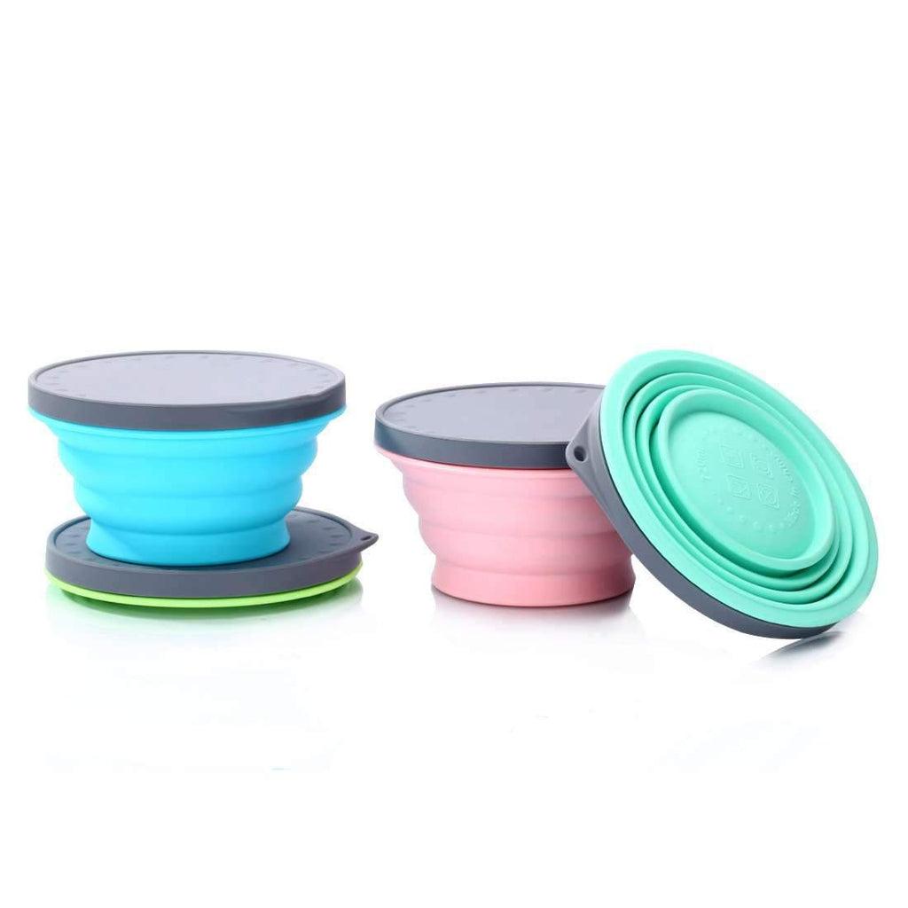 Collapsible Silicone Anti-Fall Bowl for Pet
