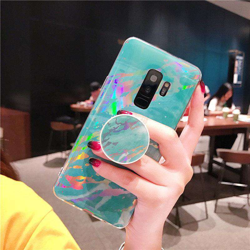 Samsung S9 Phone Case With Holder-Dazzle Color