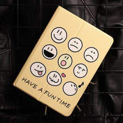 Cute Various Expressions Designed Apple iPad Cover Case