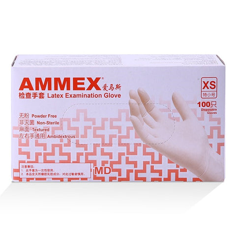 100 Pcs Touchscreen Compatible Ammex Latex Examination Gloves gallery 2