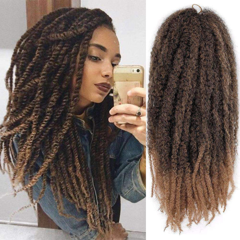 Afro Marley Crochet Braids Dreads Synthetic Wigs Flamingo