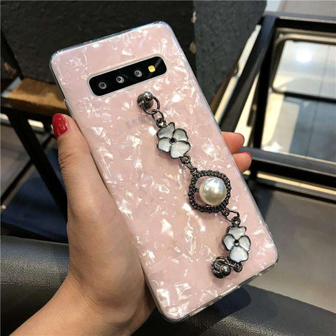 Shell Pattern Phone Case for Samsung with Wrist Strap gallery 4