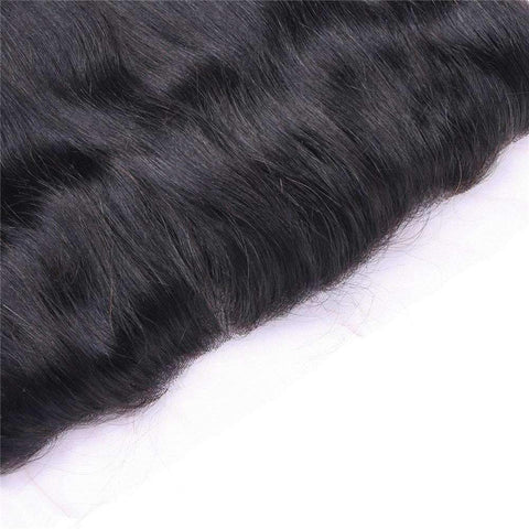 Brazilian Straight Wave With 4X13 Frontal Lace Closure gallery 2