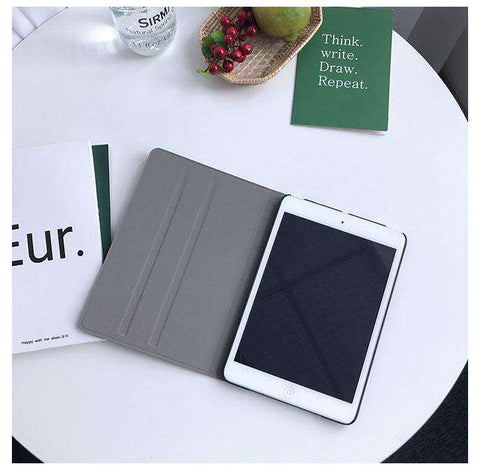 Solid Color with Letter Printed Apple iPad Cover Case gallery 4