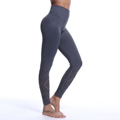 Hip-Lifting Hollow Out Seamless Sports Yoga Pants Legging