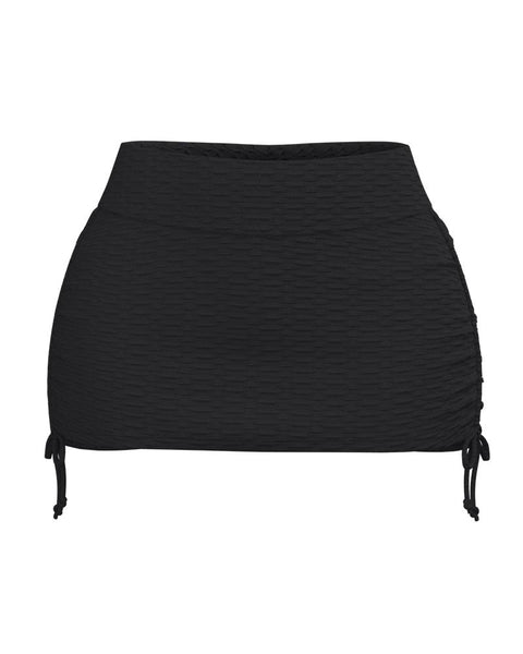 Textured Drawstring Side Sports Skirt gallery 4