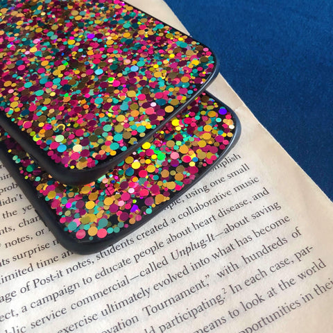 Glitter Colored Sequins Detail Phone Case for Samsung gallery 7
