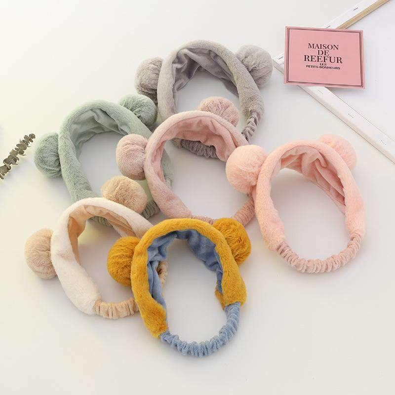 Fluffy Bear Ear Soft Headband